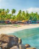 印度,果阿, Palolem海滩 免版税库存图片
