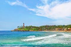 印度,科瓦兰海滩,喀拉拉 免版税图库摄影