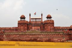 印度,红色堡垒,新德里 免版税图库摄影