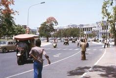 1977年 印度 在康乐广场的交通 库存图片