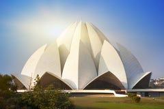 印度 新德里,莲花寺庙 库存图片