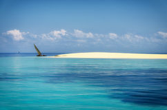 印度洋沙子银行 库存照片