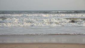 印度洋的波浪 股票视频