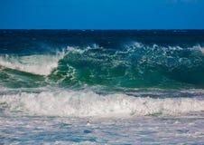 印度洋的碎波南Af狂放的海岸的  免版税图库摄影