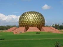 印度 聚会所斯瑞・奥罗宾多在Auroville 本地治里市 免版税库存照片