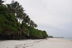 印度洋,肯尼亚的东非海岸 免版税库存照片