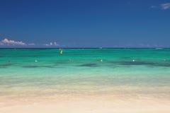 印度洋 Trou辅助比谢,毛里求斯 免版税库存照片