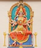 印度durga的女神 库存照片