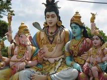 印度Ganesh希瓦和Parvati 库存图片