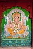 印度jaisalmer绘画墙壁 图库摄影