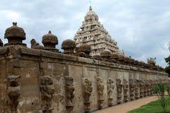 印度kailasanathar kanchipuram寺庙 免版税库存图片