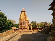 印度kama khajuraho sutra寺庙寺庙 图库摄影