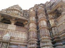 印度kama khajuraho sutra寺庙寺庙 免版税库存照片