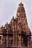 印度khajirahu m p寺庙 免版税库存照片