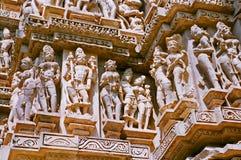 印度khajuraho寺庙 库存照片