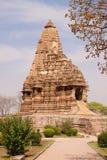 印度khajuraho寺庙 图库摄影