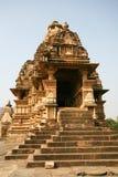 印度khajuraho破庙 库存照片