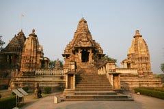 印度khajuraho破庙 免版税库存照片