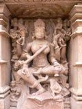 印度khajuraho madhya mahadeva pradesh寺庙 图库摄影