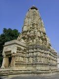 印度khajuraho Madhya Pradesh寺庙 免版税图库摄影