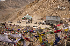 印度khardung la ladakh通过 图库摄影