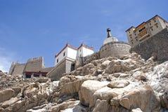 印度ladakh修道院shey 库存照片