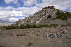印度ladakh修道院thikse 图库摄影