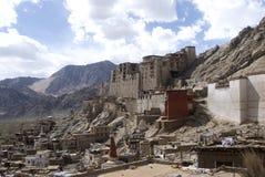 印度ladakh leh宫殿 图库摄影
