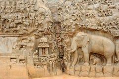 印度mahabalipuram 库存图片