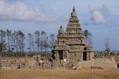 印度mahabalipuram mamallapuram岸寺庙 库存照片
