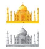 印度mahal taj 也corel凹道例证向量 免版税库存照片