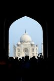 印度mahal taj 曲拱视图 免版税库存图片