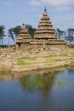 印度mamallapuram岸寺庙 免版税图库摄影