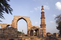 印度minar qutb 库存照片