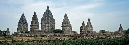 印度prambanan寺庙 免版税图库摄影