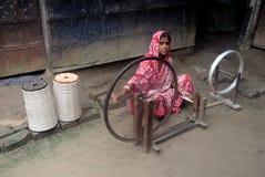 印度s村庄织工 库存图片