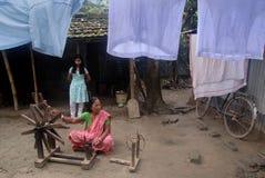 印度s村庄织工 库存照片