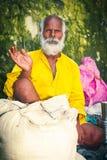 印度sadhu欢迎 库存图片