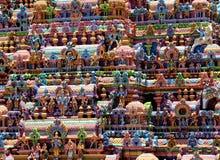 印度SRIRANGAM寺庙特写镜头  图库摄影
