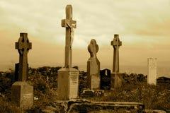 印欧语系的墓地海岛 库存图片