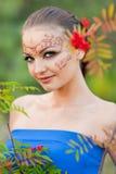 印第安人体艺术 库存图片