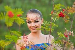 印第安人体艺术 免版税图库摄影