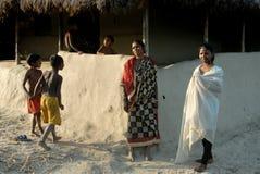 印第安人村庄 图库摄影