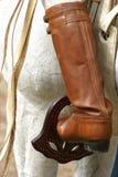 印第安人混血儿皮靴 免版税库存图片