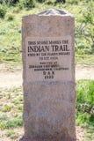 印第安人的痕迹纪念碑-神科罗拉多的庭院 库存图片