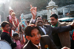 印第安传统婚礼 免版税库存图片