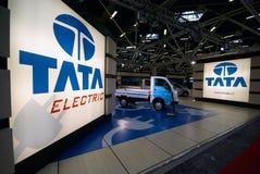 印第安低价的汽车制作商tata 库存图片