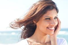 印第安俏丽的妇女 免版税库存照片