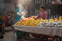 印第安农贸市场 库存图片