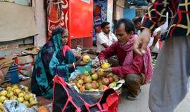 印第安出售果子 免版税库存照片